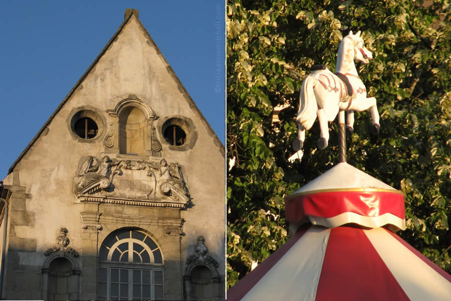 Beaune France architecture carousel