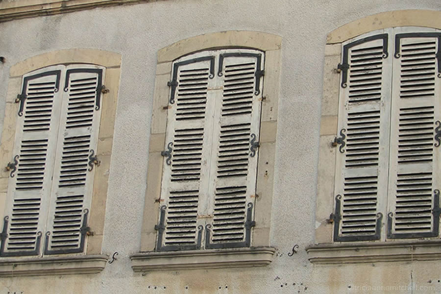 Beaune France shutter windows