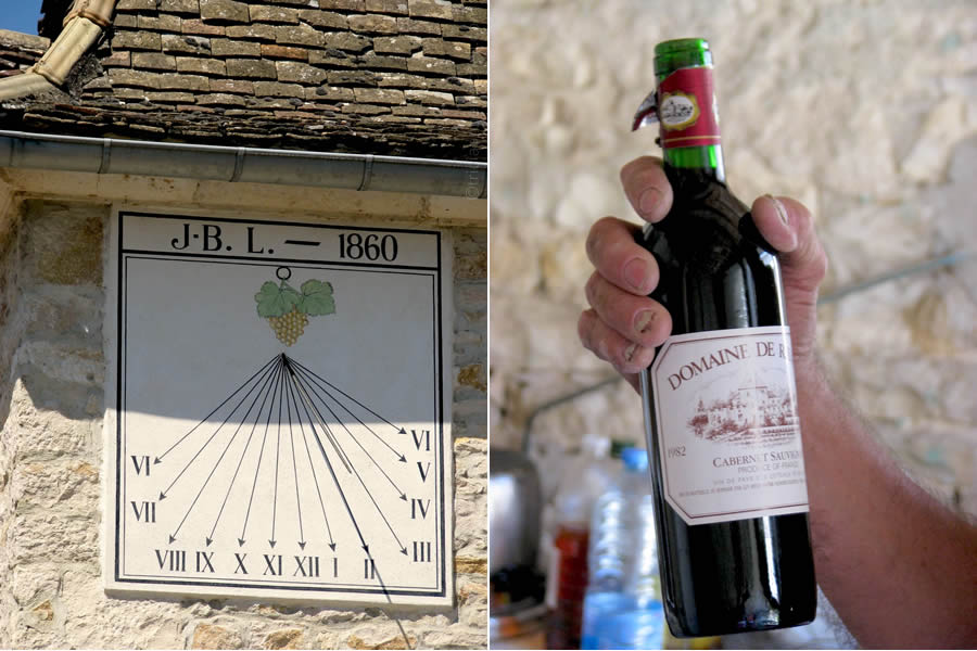 Burgundy France sundial Cabernet Sauvignon