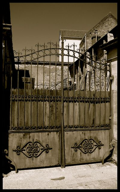 Iron Gate to Home in Burgundy, France