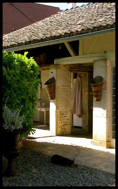 Wine Tasting Home's Courtyard in Burgundy, France