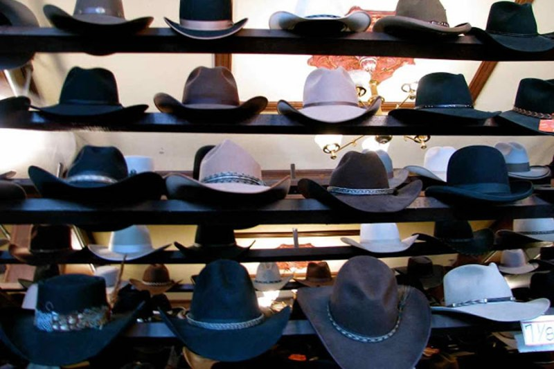 cowboy hats Virginia City Nevada