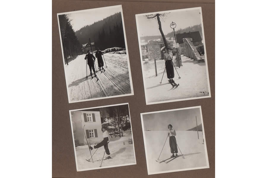 Erna Vintage Ski Photos