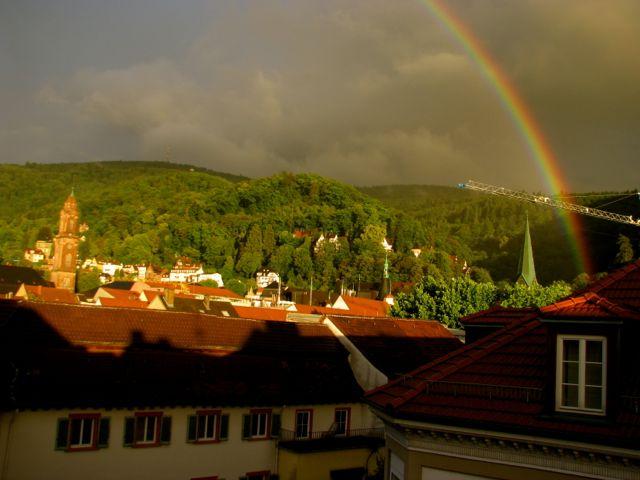 Regenbogen Overhead - Heidelberg, Germany Altstadt