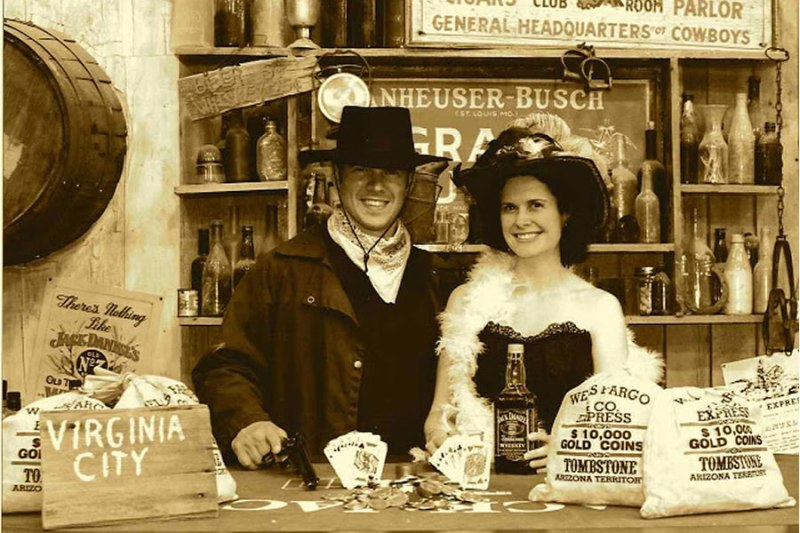 Virginia City Nevada Saloon Shot