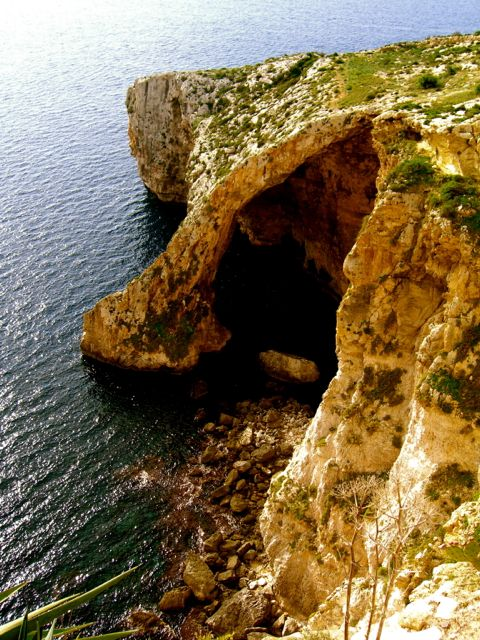 grotto in Malta with water
