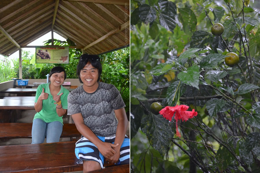 Hosts for a coffee plantation tour in Bali.