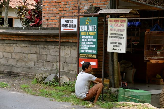 signs showing Ketut Liyer's home