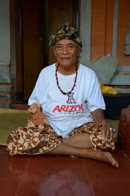 Ketut Liyer sitting on porch