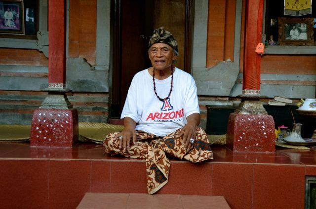 Ketut Liyer sitting at home in Bali