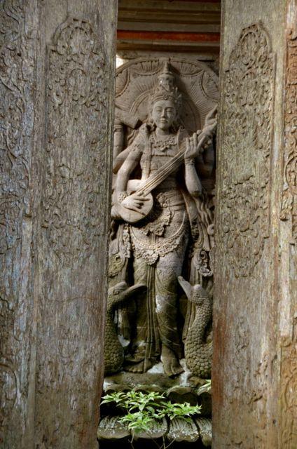 A Balinese statue.