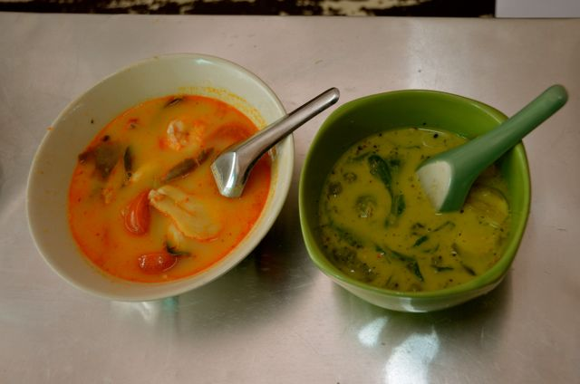 Green Curry and Tom Yum Kung