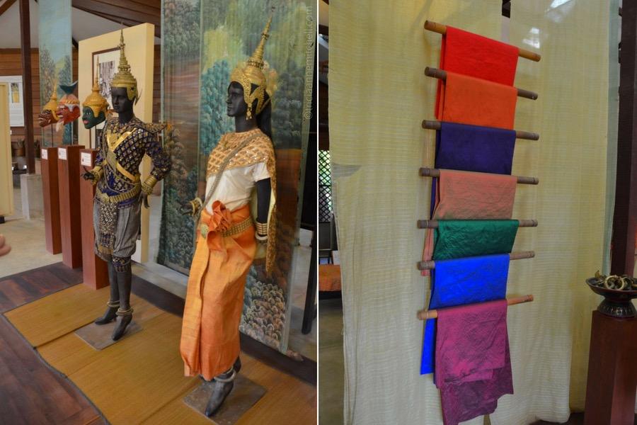 Cambodian silk traditional Khmer dress
