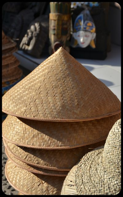 Balinese market - hats for sale