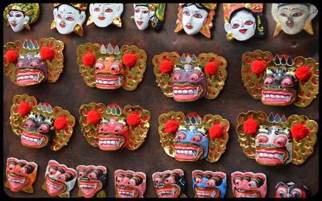 Balinese Mask Magnets