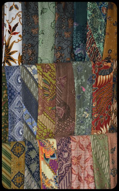 Batik scarves for sale on the Indonesian island of Bali.