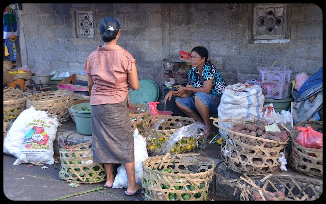 Balinese market in Ubud