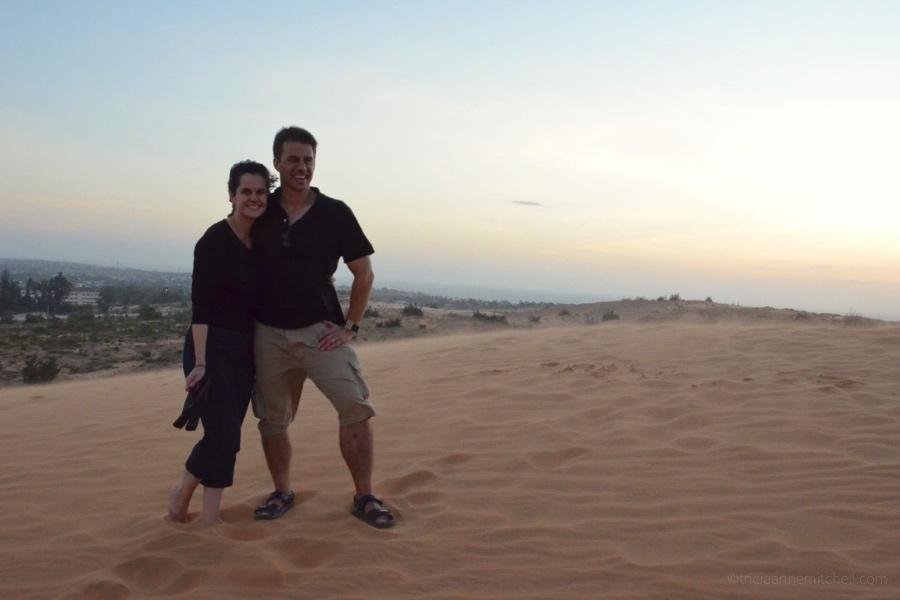 Mui Ne Red Sand Dunes Vietnam at sunset