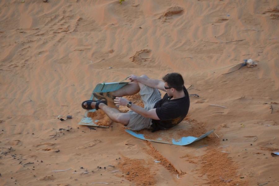 Mui Ne Vietnam sandboarding