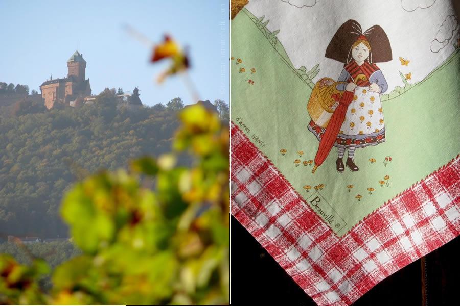 Château du Haut-Kœnigsbourg Castle France Alsatian Woman in Costume