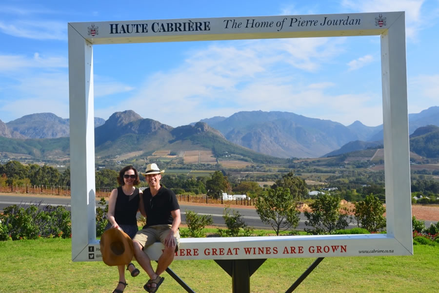 View Haute Cabriere Winery Franschhoek South Africa