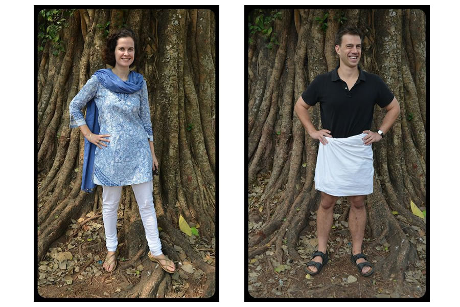 Indian Attire in Kerala Lungi Mundu Kurta