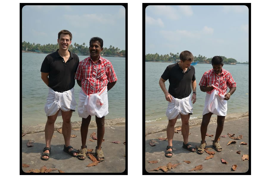 Indian Attire in Kerala Lungi Mundu a lesson in tying lungi
