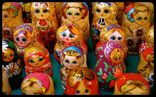 cluster of Matryoshkas dolls for sale - Mostar, Bosnia-Herzegovina