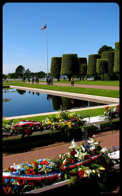 American Military Cemetery in Normandy Reflecting Pool photograph by Tricia Mitchell