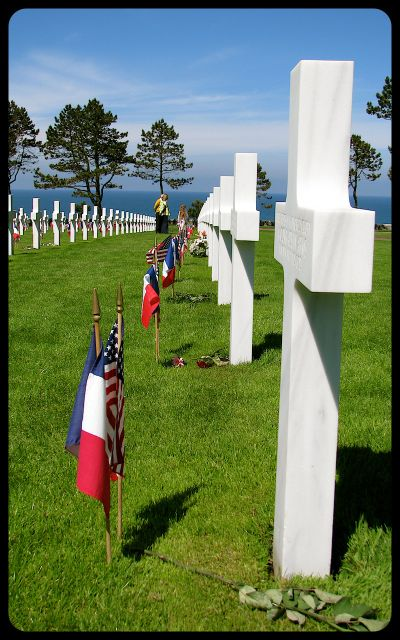 Graves in American Military Cemetery in Normandy photograph by Tricia Mitchell