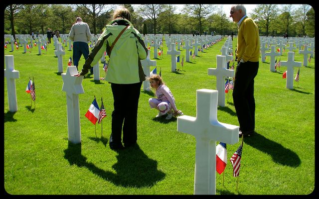 Normandy American Military Cemetery in France photograph by Tricia Mitchell