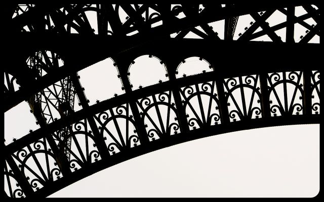 Eiffel Tower iron detail