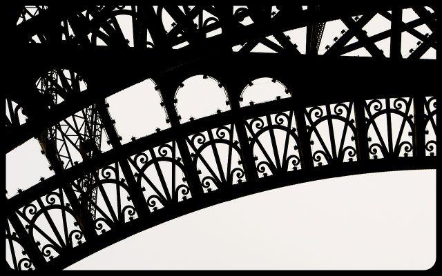 Eiffel Tower iron detail