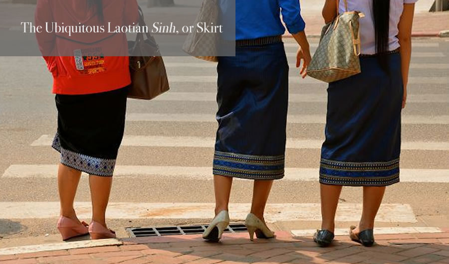 Laos Sinh Traditional Laotian Skirt