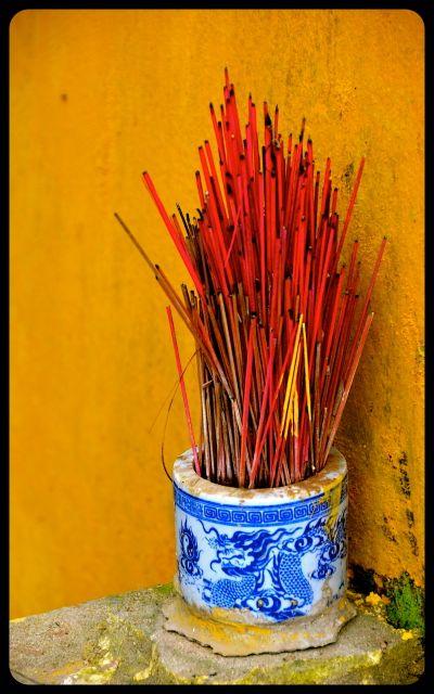 Incense bundle in Hoi An Vietnam