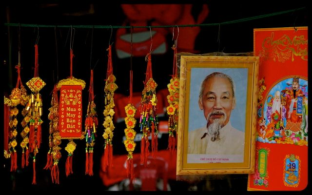 Ho Chi Minh and Tet New Year Decorations for sale in Hoi An Vietnam