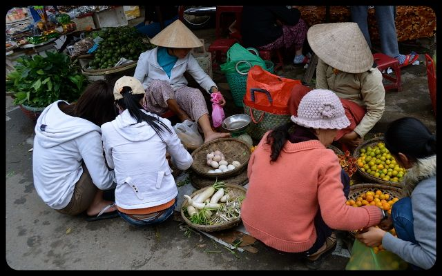 Ladies at Hoi An Marketplace