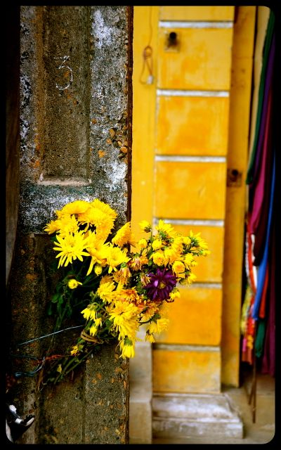 Offering mums in Hoi An Vietnam