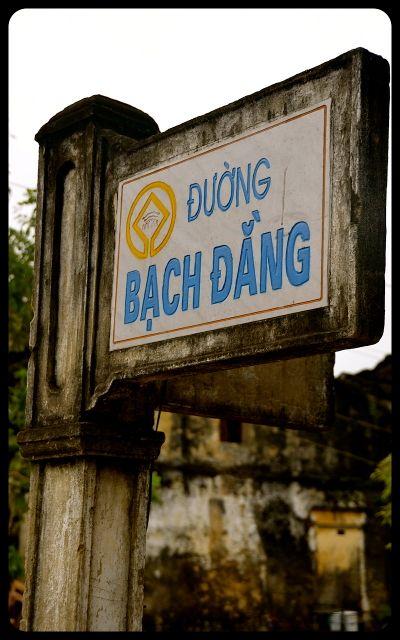 Street Sign in Hoi An Vietnam Bach Dang