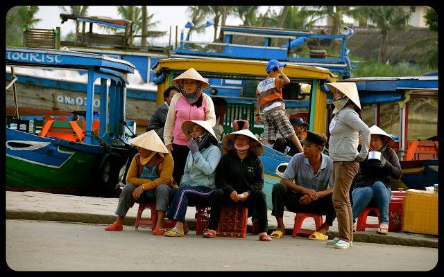 Locals in Hoi An Vietnam