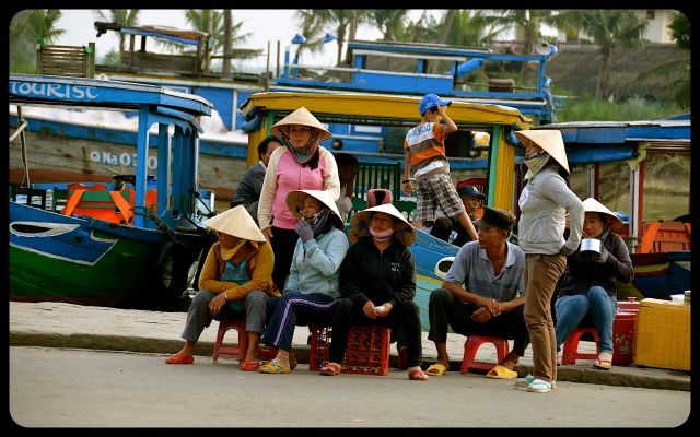 Locals in Hoi An Vietnam