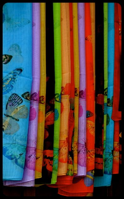 Colorful cloth fabric for sale in Hoi An Vietnam