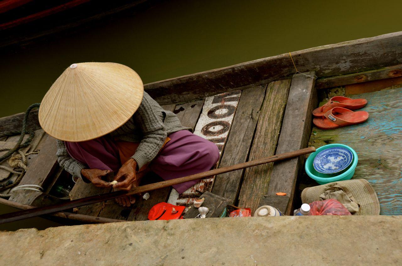 At the Thu Bon River's Edge – Hoi An, Vietnam