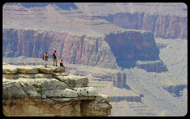 Visitors on the Edge - The Grand Canyon, Arizona