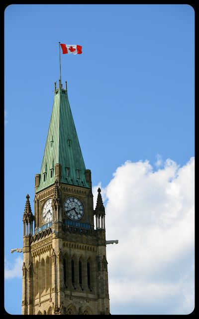 Parliament with Canadian Flag - Ottawa