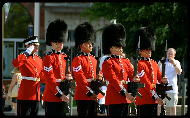 Tomb of the Unknown Soldier Honor Guard Marching in Ottawa