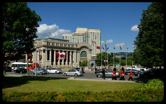 Tomb of the Unknown Soldier Honor Guard Marching in Ottawa.