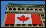 Canadian Flag on Toronto Building