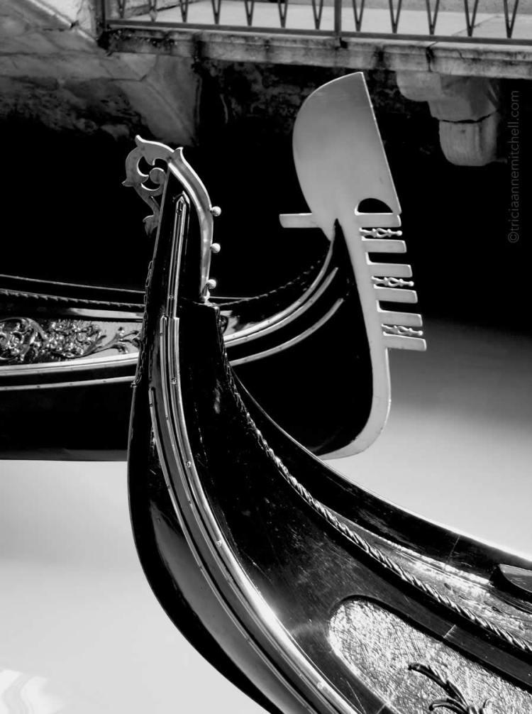 Venice Gondolas black and white