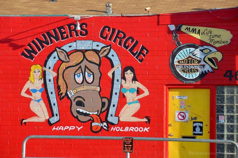 The exterior of a Holbrook, Arizona bar along Route 66.